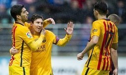 Lionel Messi and Luis Suárez on target as Barcelona blow through Eibar - The Guardian | AC Affairs | Scoop.it