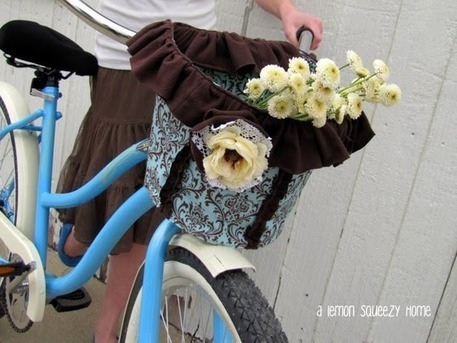 Basket Tutorials for Cycling Chic by ALemonSqueezyHome | Refashinoso | Socialart | Scoop.it