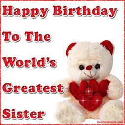 Happy Birthday Sister Messages Images Free Down