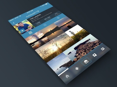 Instagram Profile Page Redesign for iOS7   WebDesign   Scoop.it