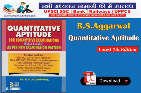 RS Aggarwal quantitative aptitude {*Latest 7th