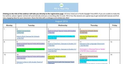 August 2016 PD in PJs | K-12 tech tools | Scoop.it