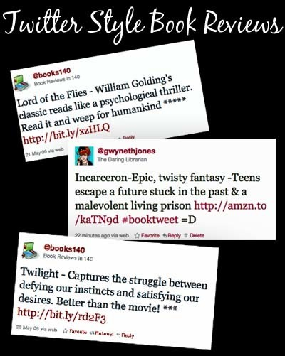 Twitter Style Book Review Lesson | The Daring Librarian | Literacy- Reading | Scoop.it