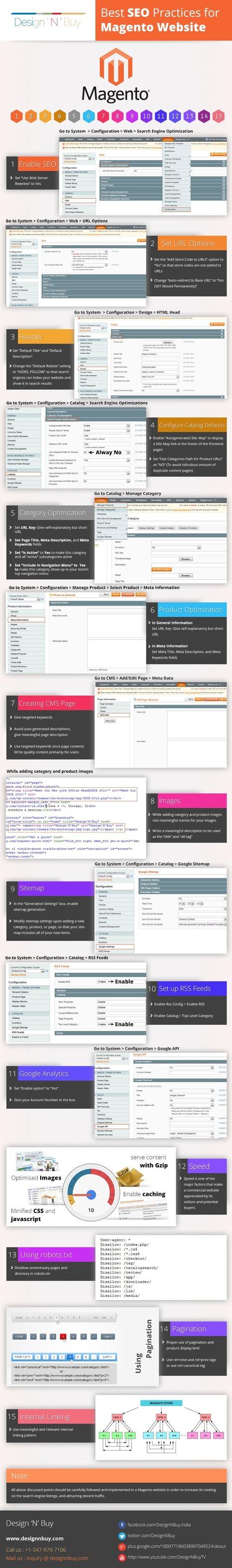Best SEO Practices for Magento Website [Infographic] | Digital Marketing | Scoop.it