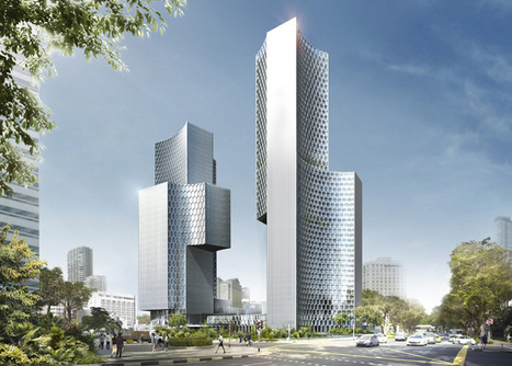 Hexagonal Shaped Facade of DUO Skyscrapers by Buro Ole Scheeren | Extreme Architecture | News, E-learning, Architecture of the future at news.arcilook.com | Architecture news | Scoop.it