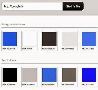 Un service pour connaitre toutes les couleurs et polices d'un site web | Boîte à outils du web 2.0 | Scoop.it