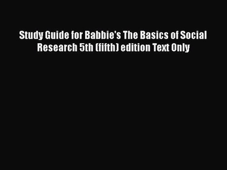 The basics of social research babbie pdf downlo the basics of social research babbie pdf download fandeluxe Choice Image