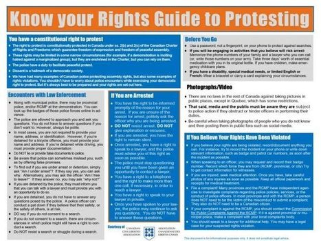 Know Your Rights Guide to Protesting ‹ Canadian Civil Liberties Association | Family-Centred Care Practice | Scoop.it