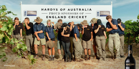 """Wait. You want me to do an ad about an AUSTRALIAN wine supporting ENGLAND'S cricket team?!"" 