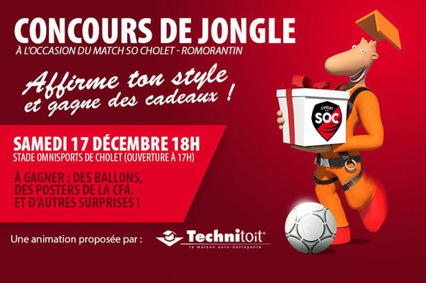 Football (CFA - 15e journée) : fêtez Noël avec Technitoit lors du match SO Cholet - Romorantin ! | La Revue de Technitoit | Scoop.it
