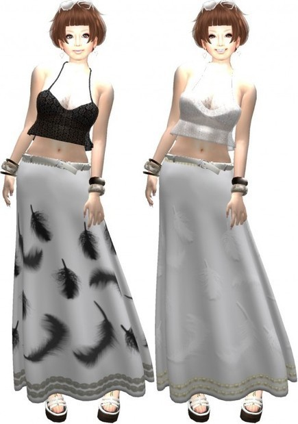 【Free】366DAYSのFeather Long Skrt | Freebies and cheapies in second life. | Scoop.it
