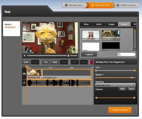 Free online video editor. Make a video using Shotclip. | Create and Communicate | Scoop.it