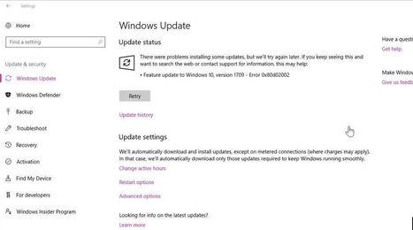 feature update to windows 10 version 1709 install error - 0x800f081f