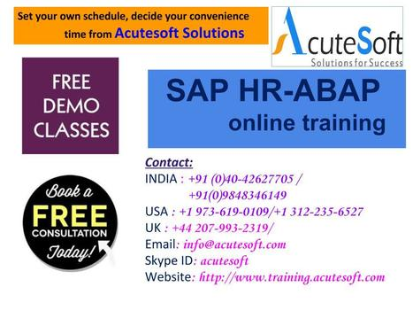 LEARN SAP HR-ABAP ONLINE TRAINING' in Online Training and