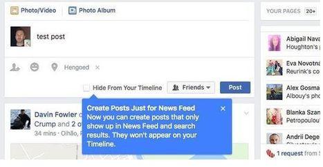 Facebook teste le post semi-éphémère qui disparaît au fil du temps | Les réseaux sociaux | Scoop.it