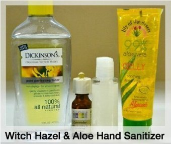 How To Make A Witch Hazel and Aloe Hand Sanitizer | Health & Natural Living | Beat Allergic Rhinitis and Allergies Naturally | Scoop.it