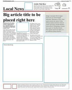 Free Newspaper Template Pack For Word. Perfect For School | Uppdrag : Skolbibliotek | Scoop.it