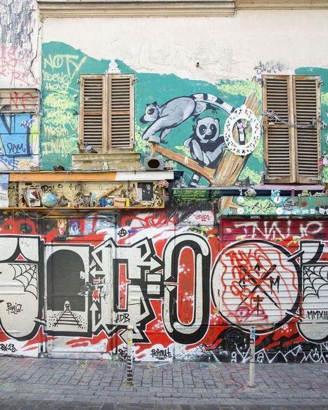 Les graffeurs de la rue Dénoyez au pied du mur, menacé par un projet immobilier... | Les princesses de Marie | Scoop.it