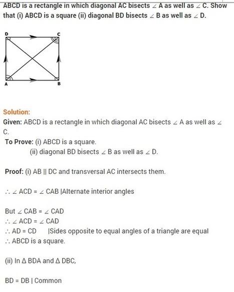 NCERT solutions for class 9 maths chapter 8 qua