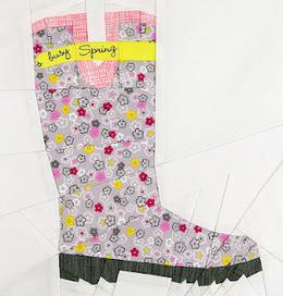 Ta Dah Garden Boot Quilt Block Quilt