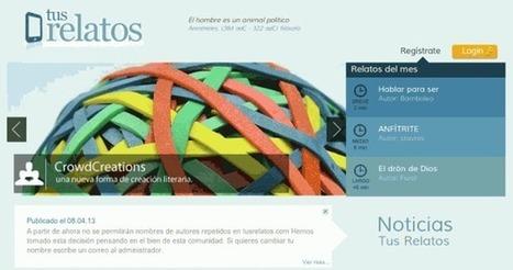 Nueva versión de TusRelatos, proyecto web para creación literaria y lectura online.- | Leer en la escuela | Scoop.it