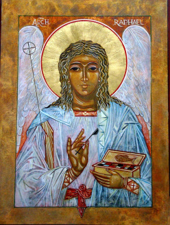 The icon of ArchangelRaphael | The Angelic Healer | Reflections for the Soul Ezine | Scoop.it