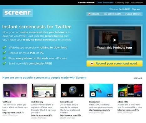 5 services en ligne gratuits pour enregistrer une vidéo d'un écran (Screencast) | Autour du Web | Tice Fle, Ele | Scoop.it