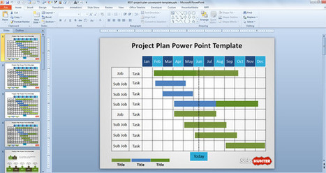 free project plan powerpoint template scopide