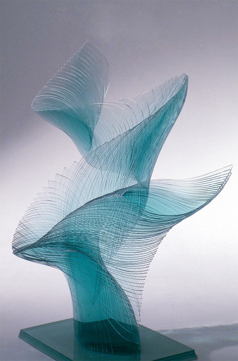 Artist Niyoko Ikuta Uses Layers of Laminated Sheet Glass to Create Spiraling Geometric Sculptures | Culture and Fun - Art | Scoop.it