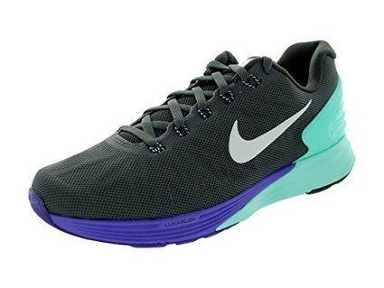 92b8705cdf Nike Women's Lunarglide 6 Mdm Ash/Blk/Hypr Trq/Hypr Grp Running Shoe 7.5 Women  US