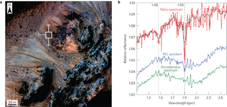 Spectral evidence for hydrated salts in recurring slope lineae on Mars | Virology News | Scoop.it