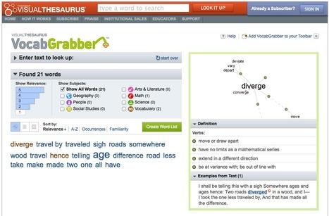 VocabGrabber : Thinkmap Visual Thesaurus | TELT | Scoop.it