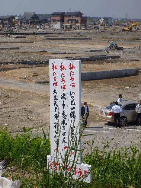 [photo] 3 mois après le séisme et le tsunami de nombreux mémorials fleurissent | digitalbear | Japon : séisme, tsunami & conséquences | Scoop.it