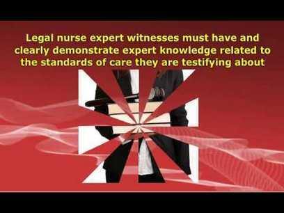The Legal Nurse as Expert Witness