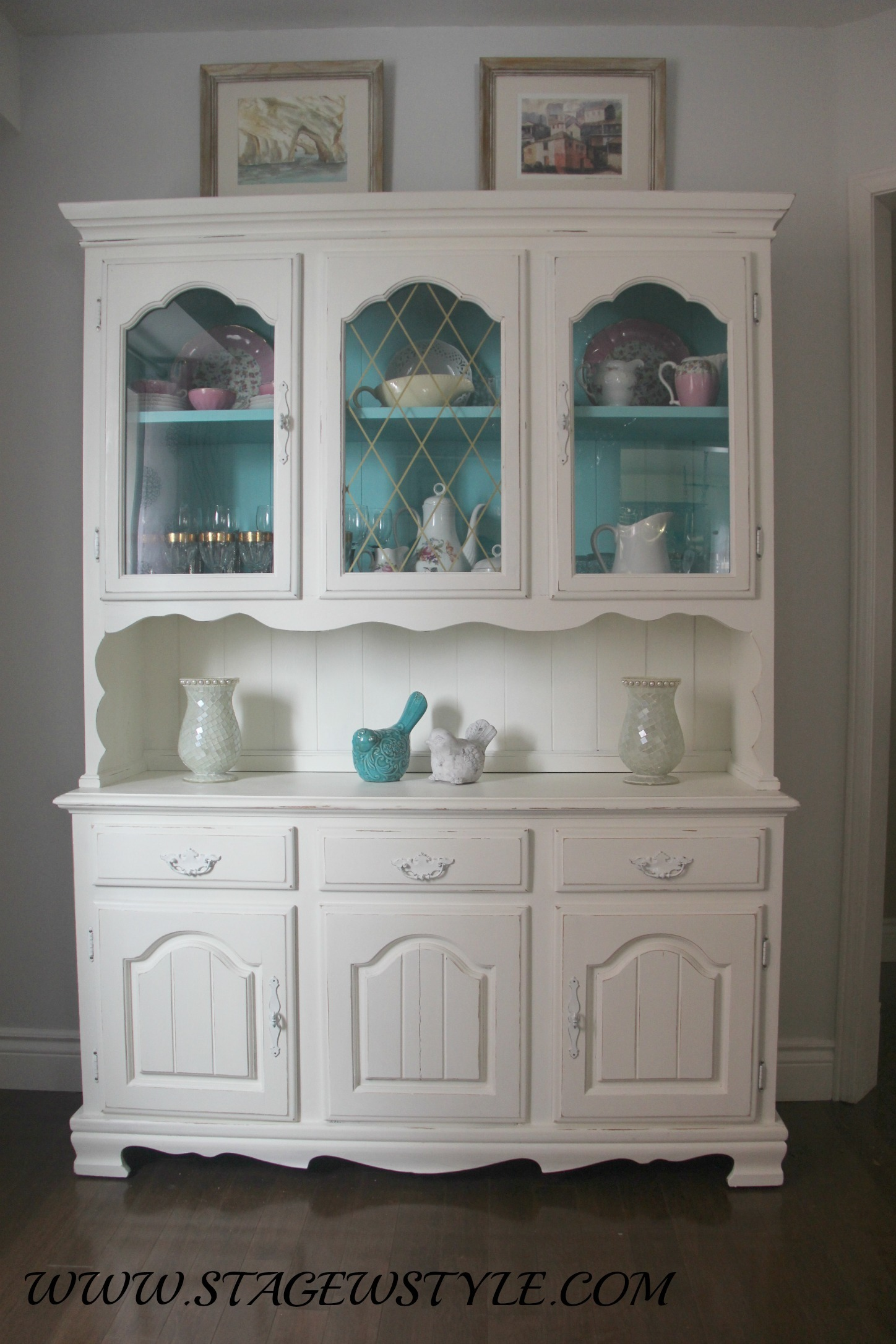 China cabinet makeover - stage with style -DIY ...