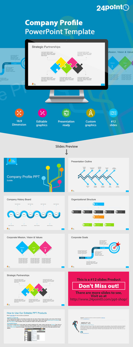 Company Profile PowerPoint Template | PowerPoint Presentation Tools and Resources | Scoop.it