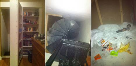 Don't read this alone: Imgur user posts creepy pictures of secret stairs hidden behind a bookcase... and someone is living there. Or is this just the most terrifying online hoax ever? | A Sense of the Ridiculous | Scoop.it
