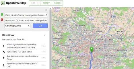 OpenStreetMap propose enfin les directions à suivre en GPS | Outils et pratiques du web | Scoop.it