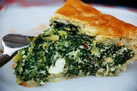 Savory Rustic Tart with Wild Greens | Food123 | Scoop.it
