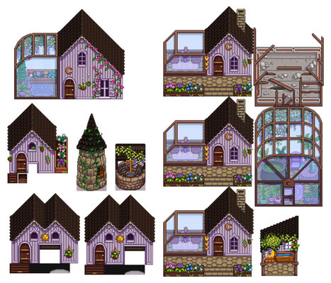Witchy Gothic Buildings Mod for Stardew Valley