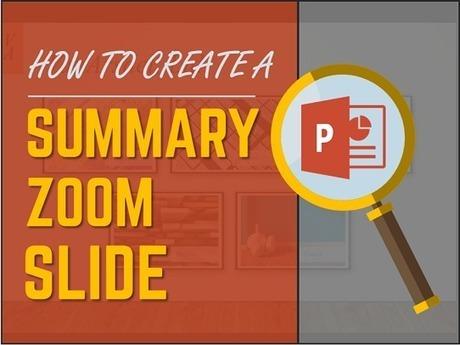create a dynamic summary slide using the powerp