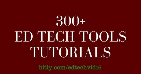 Free Technology for Teachers: 300+ Ed Tech Tools Tutorials | CC Tools | Scoop.it