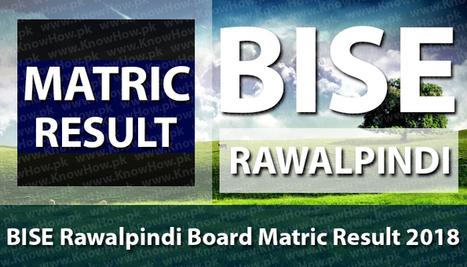 Matric Result 2018 BISE Rawalpindi Board 10th C