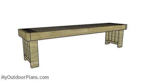 Simple 2x4 Bench Plans Myoutdoorplans Free