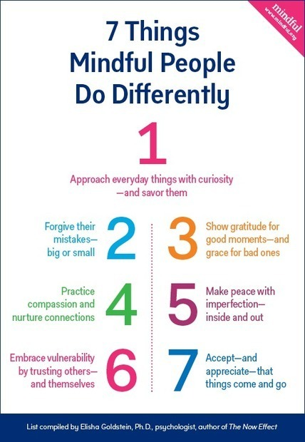 7 Things Mindful People Do Differently and How To Get Started | Mindful | Mindfulness & Stress | Scoop.it