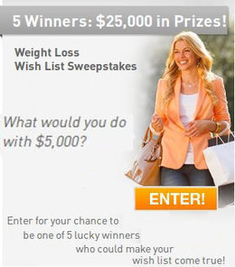 NutriSystem WeightLoss Wish List Sweepstakes | Coupons & Deals | Scoop.it
