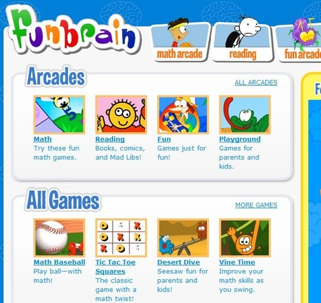 FunBrain.com - The Internet's #1 Education Site for K-8 Kids and Teachers | Web 2.0 for Education | Scoop.it