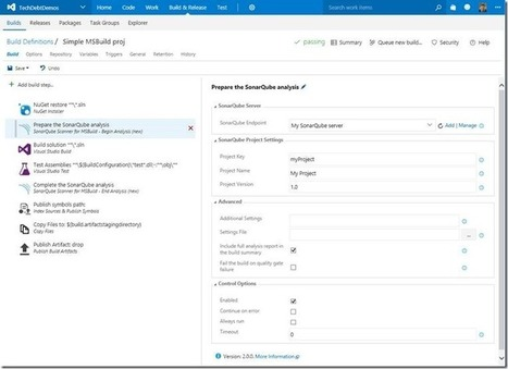 SonarSource have announced their own SonarQube Team Services / TFS integration   Visual Studio ALM   Scoop.it