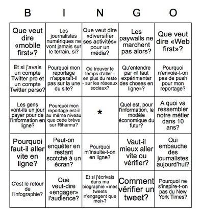 Le bingo des questions les plus fréquentes sur le journalisme numérique | Evolution des pratiques journalistiques, pure player, presse en ligne, presse écrite | Scoop.it
