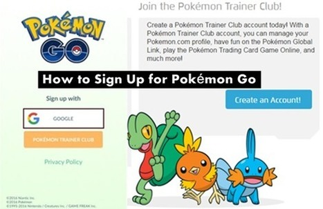 How to Sign Up for Pokémon Go or Login P